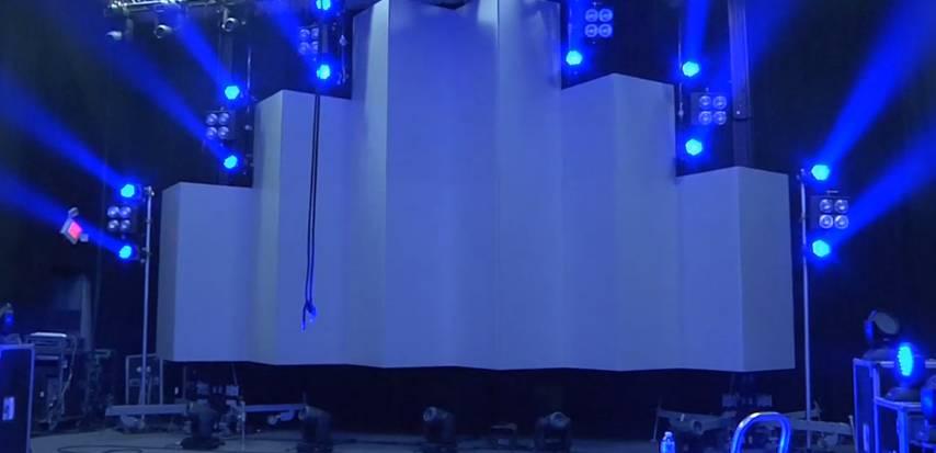 音乐会舞台背景3D全息立体投影