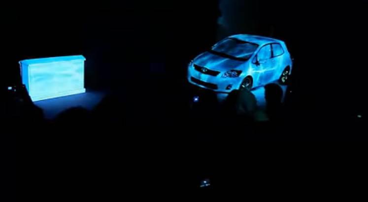 丰田汽车3D全息投影