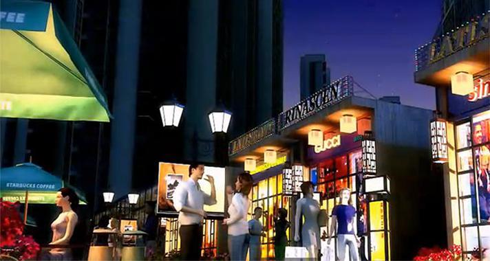 三维展示开元华庭风情商业街