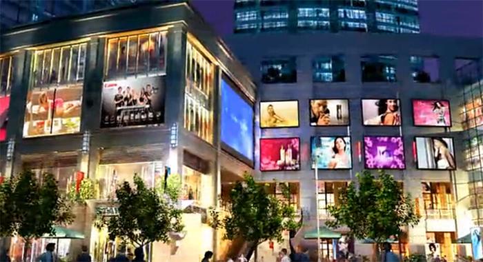 东至汇金商业步行广场建筑动画4