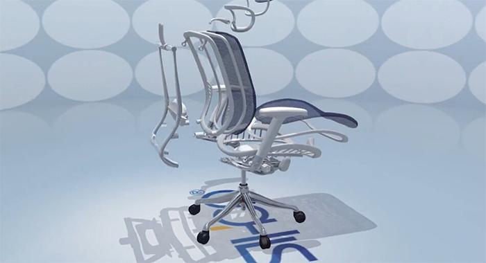 西昊人体工学椅产品演示动画2