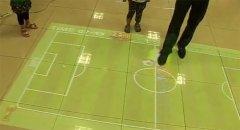 商场地面互动投影踢足球和花朵