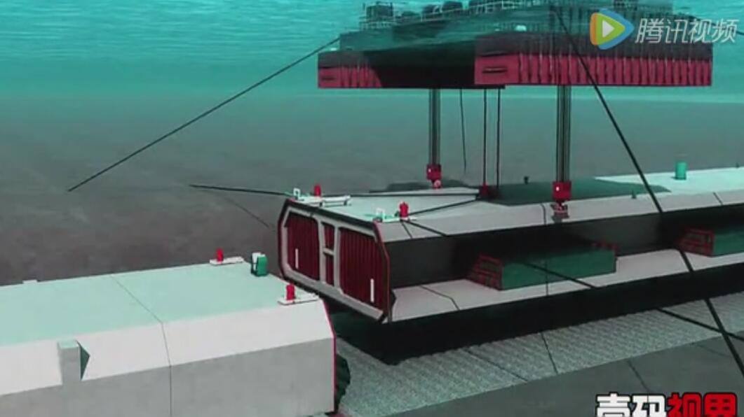 港珠澳大桥沉管隧道工程动画