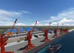 码头工程施工三维动画