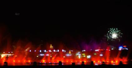 【超清】3d全息喷泉跳舞视频